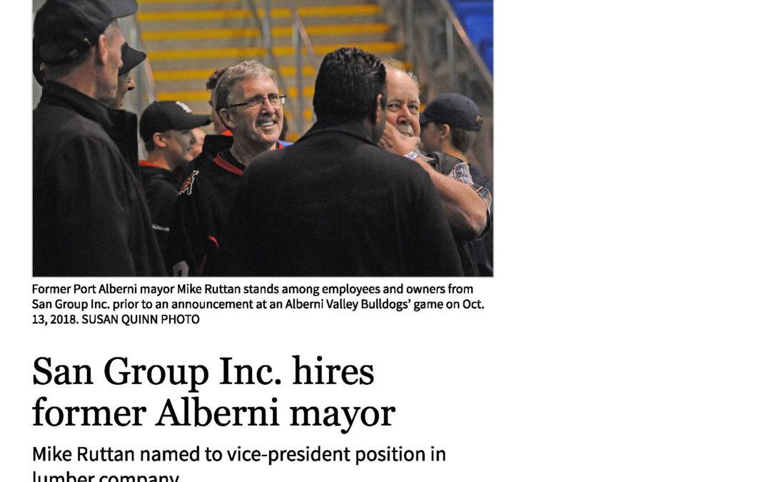 San Group hires former Alberni mayor