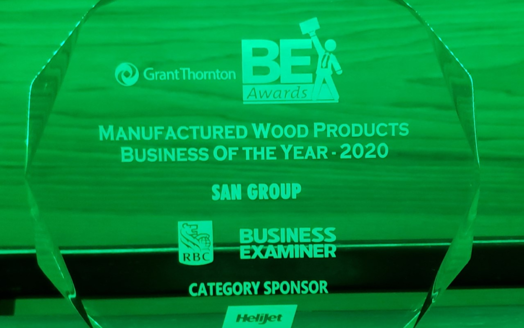 San Group wins Manufactured Wood Products – Business of the Year Award!